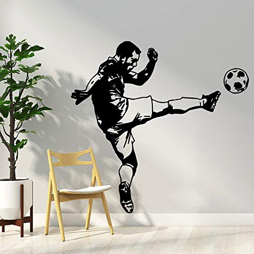 Cartoon Football Player Wohnkultur Moderne Acryl Dekoration Für Kinderzimmer Dekoration Wandkunst Aufkleber Kaffee L 43 cm X 44 cm