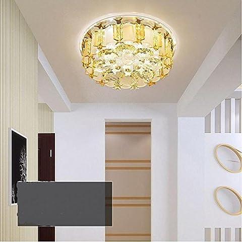 Lampe de plafond en cristal à lumière courte en allure de cristal en alliage de cristal en plafonnier simple plafonnier à LED , neutral light