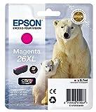 1x Original XL Tintenpatrone für Epson Expression Premium XP-710 XP 710 XP710 C13T26334010 26XL T2633 - Magenta -