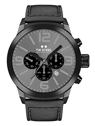 TW Steel Marc Coblen Edition Chrono mit Lederband 50 MM Grey Sunray/Black TWMC67