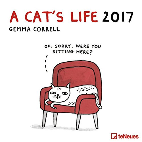 2017 A Cat's Life Calendar - teNeues Grid Calendar - Humour Calendar - 30 x 30 cm