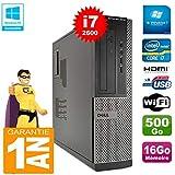Dell PC 3010 DT Core I7-2600 Ram 16Go Disque 500 Go Graveur DVD WiFi W7...