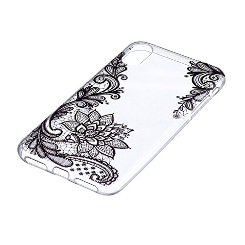 "Coque pour Apple iPhone X , IJIA Transparent Mignon Dauphins TPU Doux Housse Silicone Case Bumper Cover Shell Etui pour Apple iPhone X (5.8"") WM108"