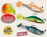 Gummifisch Behr Trendex Treble-Tail, 12 cm, 34 g, Inhalt 2 Stück (Farbe 1 - orange-silber)