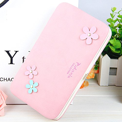 Le donne Cute bowknot borsa solida borsa Portafoglio Wearable, Sunroyal Multifunzionale [Grande capacità] Smartphone Wristlet Custodia Case Cover per Huawei Mate 9 / P10 / P10 Lite / P10 Plus / P9 / P Modello 18