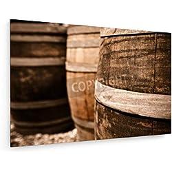 Barril de vino - 60x40 cm - weewado - Impresiones sobre lienzo - Muro de arte - Artista
