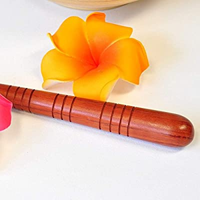 Massagestab, Griffel, Hartholz für Thaimassage, gerade, Massagezubehör, Deuserstäbchen