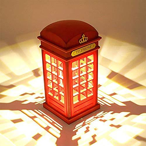 Lámpara Mesilla,Cabina telefónica Vintage Londres diseñado de lampara de mesa,Touch Sensor Regulable...