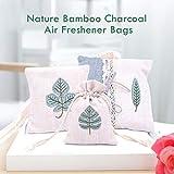 Hapree 3 Pack Natural Air Purifying Bag, Reusable Air Freshener Activated Bamboo Charcoal