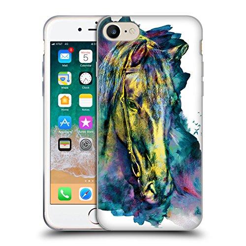 Offizielle Riza Peker Pferd Tiere Soft Gel Hülle für Apple iPhone 7