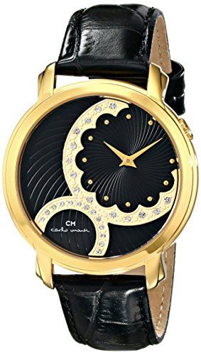 Carlo Monti - CM802-222 - Montre Femme - Quartz - Analogique - Bracelet Cuir Noir