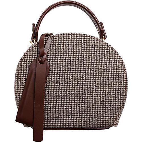 Europäische retro kleine runde Tasche weibliche Messenger Bag, Handtasche kleine Tasche Umhängetasche, Messenger vielseitige literarische Retro Atem kleine Tasche, Persönlichkeit Mädchen Tasche Noster