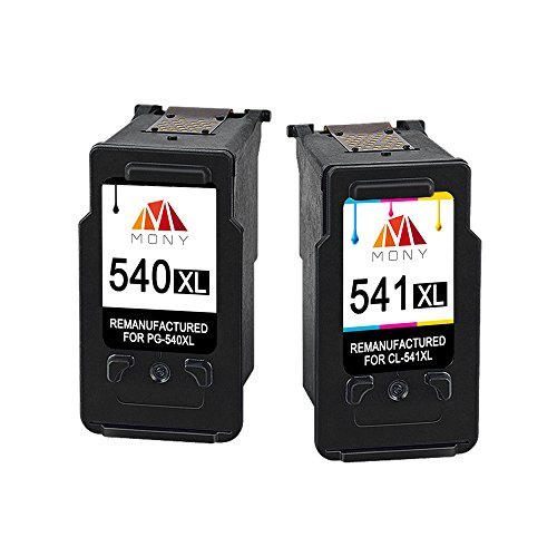 Mony Remanufactured Canon PG-540 CL-541 XL Druckerpatronen (1 Schwarz, 1 Mehrfarbig) für Canon MG4250 MG3650 MG3550 MX535 MX475 MX395 MG3250 MG3200 MG3100 Drucker