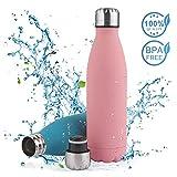 Nasharia Bouteille d'eau en Acier Inoxydable - Double Paroi Gourde sans BPA, 750ml /...