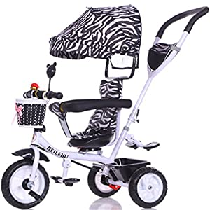 Children's Bicycle Baby Bicycle Baby Bicycle Baby Three-Wheeled Baby Carriage Baby Travel System (Size : A)   4