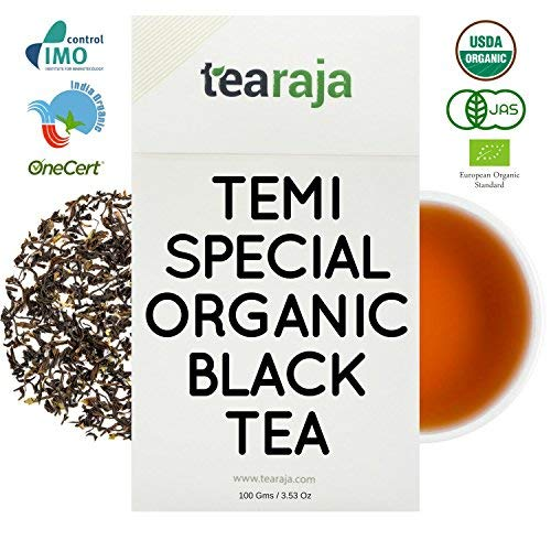 TeaRaja Temi Organic Black Tea 100 GMS (Unblended Tea from Temi Tea Estate)