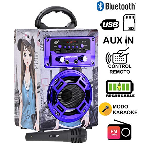 dynasonic 120 - Mini altoparlante bluetooth portatile karaoke 2