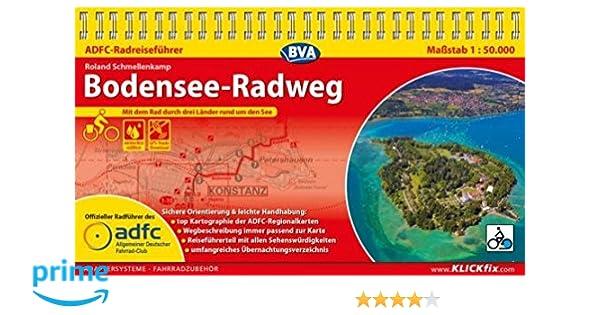 Adfc Radreisefuhrer Bodensee Radweg 1 50 000 Praktische