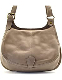 cf58ca9c673ef OH MY BAG Sac à main besace cuir lisse style cartouchière SOLDES