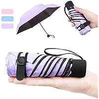 NASUM Mini Parapluie Pliant Ultra Léger Compact Portable Séchage Rapide Résistance aux UV avec Boucle Hexagone en Silicone pour Activités en Plein Air Golf Voyage Randonnée