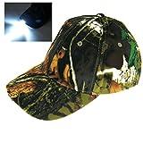 - Cappello mimetico con luce a 5LED, per la caccia e la pesca...
