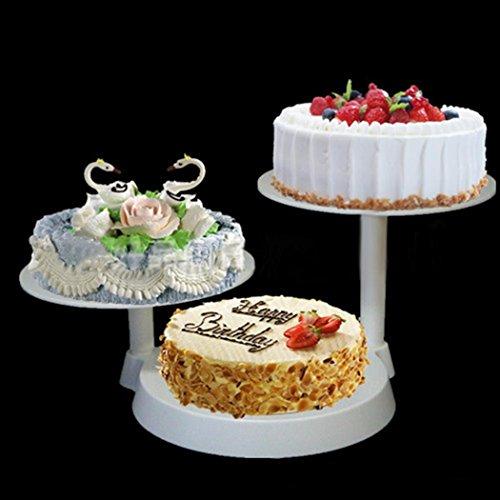 r Runde Kuchen Hochzeitstorte Hochzeit Geburtstag Ausstecher Display (3 Etage) (Kunststoff 3-tier-kuchen-stand)