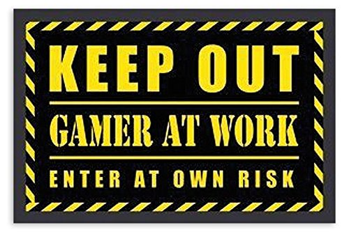 Close Up Felpudo Keep out Gamer at Work