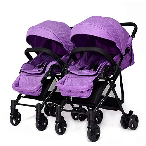 Giow High Landscape Twin Stroller, Lightweight Stroller Detachable Sitting And Lying  Giow