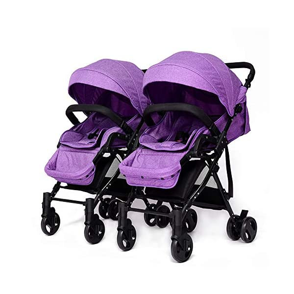Giow High Landscape Twin Stroller, Lightweight Stroller Detachable Sitting And Lying Giow  1