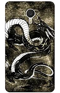 iessential dragon Designer Printed Back Case Cover for Meizu M3 Note