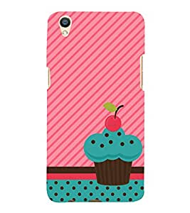 Fiobs Designer Back Case Cover for Oppo F1 Plus :: Oppo R9 :: Opo F1+ (Cup Cake Cherry On Top Pink Sweet Mitha)