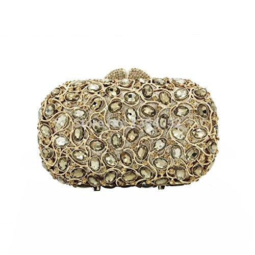 Lady Pacchetto Borsa Quadrata Della Frizione Di Lusso Con Diamanti D