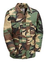 Kids Combat Jacket (Age 11-12, Woodland Camouflage)