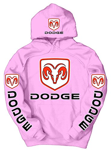 Dodge Logo Hoodie, Medium Pink (Dodge Camo Hoodie)