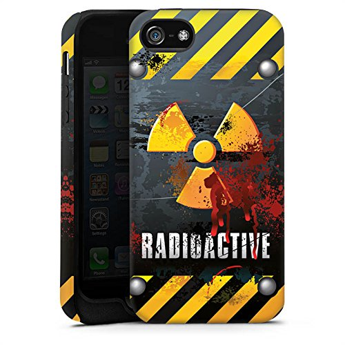 Apple iPhone X Silikon Hülle Case Schutzhülle Radioactive Blut Atom Tough Case matt