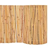 vidaXL Gartenzaun Bambus 500x30cm Sichtschutzzaun Windschutz Bambusmatte, Natur, One Size