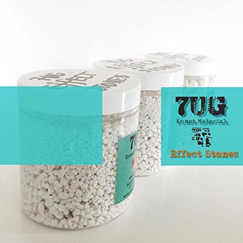 7UG 3er Set Effectstones zur Einarbeitung in Binder, Strukturpaste, Acrylfarbe für Mixed Media