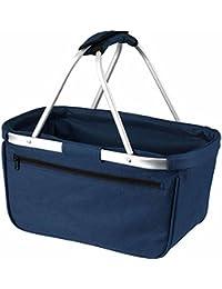 HALFAR - sac panier pliable - shopping courses provisions - 1803939 - bleu marine