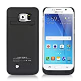 COOLEAD 4200mAh Slim Rechargeable Extended Battery Case/Backup Battery Pack Charger/Power Case/Extra Battery for Samsung Galaxy S6 (Black)