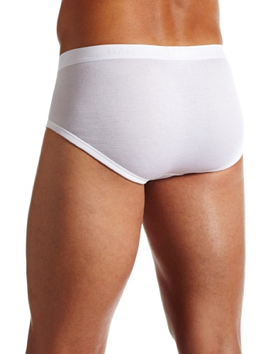 Hanro Herren Slip Cotton Pure Weiß (White )