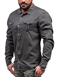BOLF - Chemise casual – manches longues – Jeans – GLO STORY 5239 - Homme