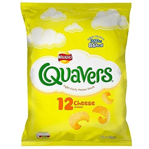 Walkers Quavers Cheese Snacks, 16g (12 Pack)