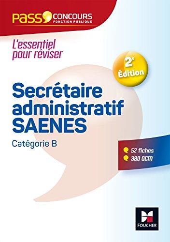 PassConcours - Secrétaire administratif-SAENES - Catégorie B - Entrainement et révision