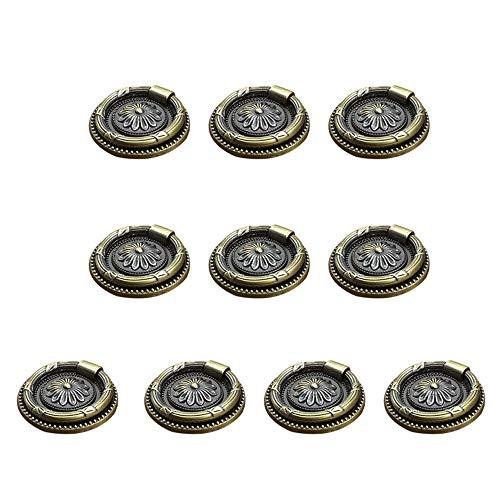 Pomos y Tiradores de Muebles 10 Piezas Pomos Puertas Vintage para Armarios Cajones Cocina Gabinetes 82mmx 35mm Negro