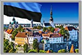 TALLINN FRIDGE MAGNET, THE CAPITAL CITY OF ESTONIA MAGNETICA CALAMITA FRIGO