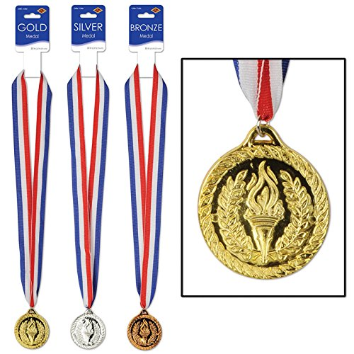 3-piece-athletics-sports-gold-silver-bronze-medal-award-ribbon-necklace-set