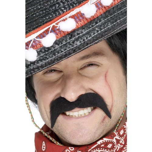 Kostüm Halloween Salsa - Gemz Fancy Dress Mexican Bandit Tash - Black by Partyrama