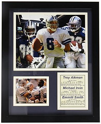 Legends Never Die Dallas Cowboys Aikman, Irvin et Smith encadrée Photo Collage, 11x 35,6cm