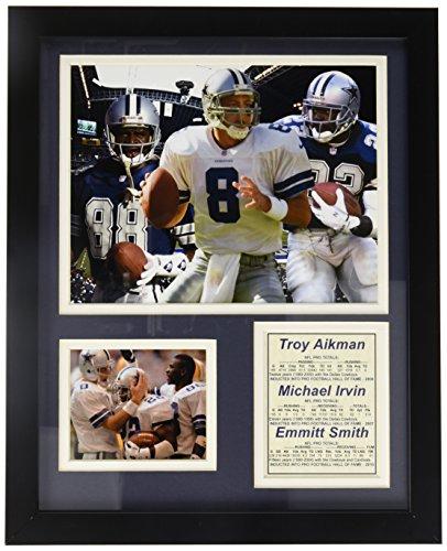 Legenden Sterben Nie Dallas Cowboys Aikman, Irvin und Smith gerahmtes Foto Collage, 11x 35,6cm (Sammler Leinwand Kunst)