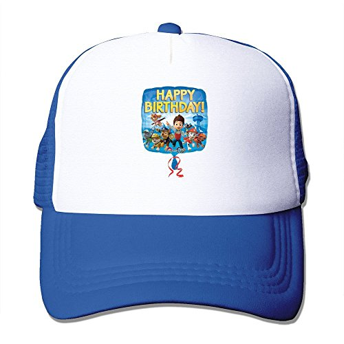 rol Happy Birthday Foil Balloon Adult Nylon Adjustable Snapback Hip Hop Hat Royalblue (Baseball-happy Birthday)
